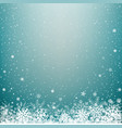 blue light winter snow background vector image vector image