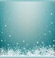 blue light winter snow background vector image