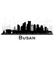 busan south korea city skyline silhouette vector image vector image