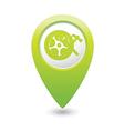 car wheel service icon on green map pointer vector image vector image