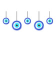 card with blue evil eyes - evil eye vector image