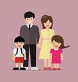 Cartoon family flat style vector image
