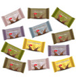 chocolate bar sets product package vector image vector image