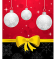 christmas card or background with set balls - vector image