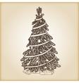 Christmas hand drawn - Xmas vector image
