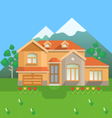 Country house in mountains vector image vector image