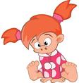 Cute Little Girl Cartoon Character vector image vector image