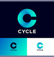 cycle logo c monogram vector image