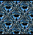 damask ornate blue seamless pattern luxury vector image vector image