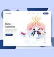 data scientist isometric concept vector image vector image