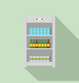 drinks refrigerator icon flat style vector image vector image