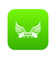 eagle wing icon green vector image
