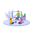 education in online concept vector image vector image