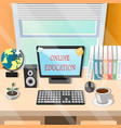 education online or elearning theme design vector image vector image