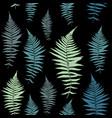 fern leaf fern leaf seamless pattern vector image vector image