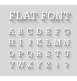 Flat font with long shadow effect vector image vector image