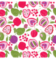 fruit wallpaper vector image vector image
