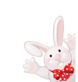Funny rabbit vector image vector image