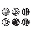 geo location icons pin geography internet global vector image