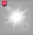 glowing lights set on transparent background lens vector image vector image