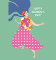 greeting card for international womens day vector image vector image