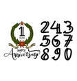 happy anniversary template vector image vector image