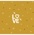 Happy valentines day card with arrow vector image vector image
