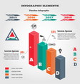 Infographics elements 3d columns chart of data vector image vector image