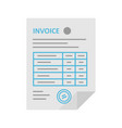 invoice icon in the flat style vector image vector image