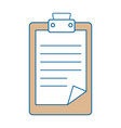 isolated clipboard documents vector image vector image