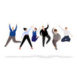 jumping business people happy office people vector image vector image
