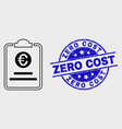 linear euro price pad icon and grunge zero vector image vector image