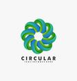 logo circular gradient colorful style vector image