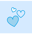 Love Valentine Heart Shape Icon Simple Blue vector image vector image