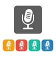 microphone 2 icon vector image