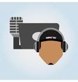 mobile audio design vector image vector image