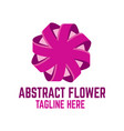 modern abstract flower logo vector image