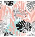 modern seamless pattern with animal skin print vector image