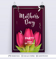 mother day greeting card template vector image