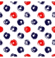 Navy blue red and white grunge circle brush vector image vector image