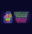 oktoberfest neon sign bright signboard vector image