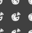 Pizza Icon Seamless pattern on a gray background vector image vector image