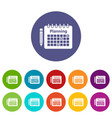 planning icon simple style vector image vector image