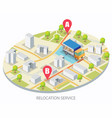 relocation service concept for web banner vector image