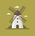 rural windmill flat vector image