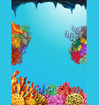 scene with coral reef underwater vector image vector image