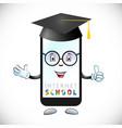 school online logo idea vector image vector image