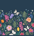 seamless border with spring flowers vector image vector image