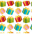seamless gift boxes background wrapping paper on vector image