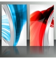 Set of abstract banners with lines and geometric vector image